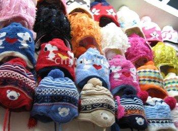 Hats 24pcs/lot new LOTS girls Beanie Boys Cap Crochet Bonnet tamhat