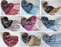 Burnout Velvet Silk Shawl Wrap Scarf LOTS DESIGN COLOR 13pcs/lot Christmas gift