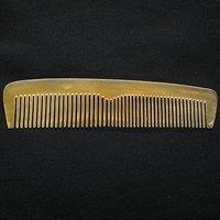 16cm Handmade WIDE-Teeth Tibet Yak Horn Carved Comb Y18