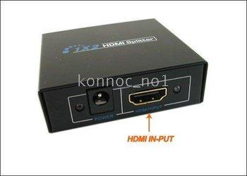 1X2 HDMI Amplifie Splitter HD AV V1.3 1080p HDCP 1 Input 2 OutputRetail Acc Brand New !!!