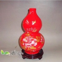 Chinese Jingdezhen ceramics, decorative red glaze flower vase flower arranging device 12
