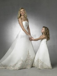 mas dress/ #FD697 beautiful flower girl dress/ Little girl' beautiful party dress/ X(China (Mainland))