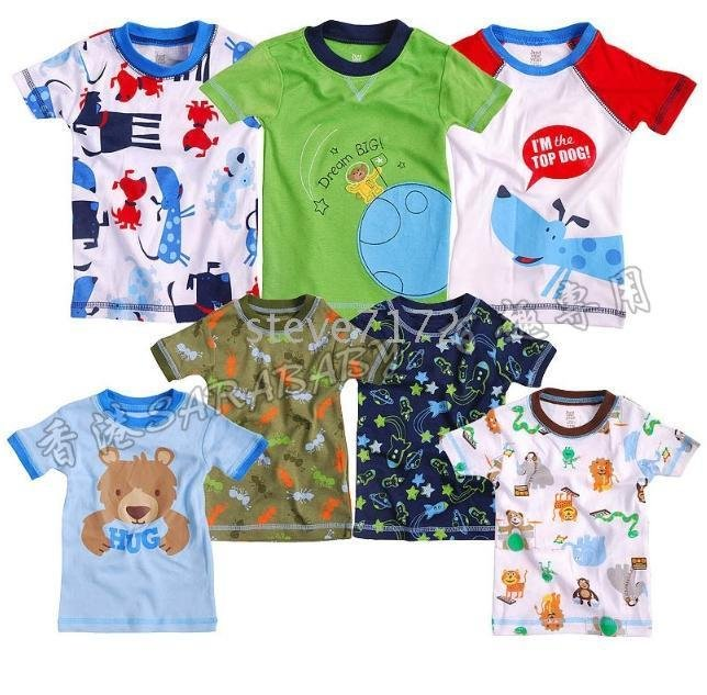 jackets baby blouses tops tshirts toddler tshirt uppers outers garments RR4 Carter's baby t-shirts(China (Mainland))