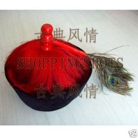 chinese Beijing opera hat cap chapeau headgear 085104 red free shipping