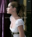 lace&satin wedding dress cap sleeve a-line brush train