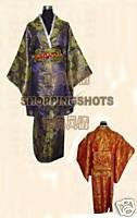 kimono wedding clothing dress dancwear suit 071703 purple free shipping