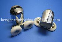 Chrome double shower room roller  (HS061)