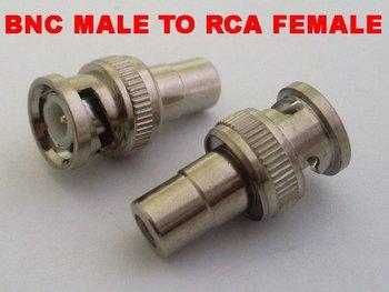 100 pcs BNC male to RCA female connectors BNC to RCA