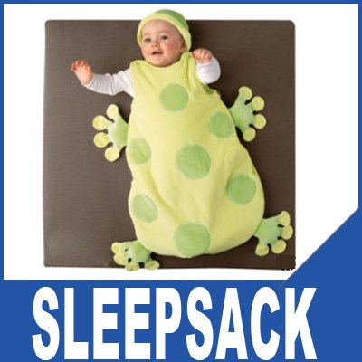 New Baby Child Frog shape Velours Sleeveless Sleeper Sleep Sack Size L/FREESHIPPING 100399(China (Mainland))