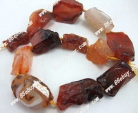 "Free shipping wholesale 17"" 17*22-22*40mm natural red agate loose strands"
