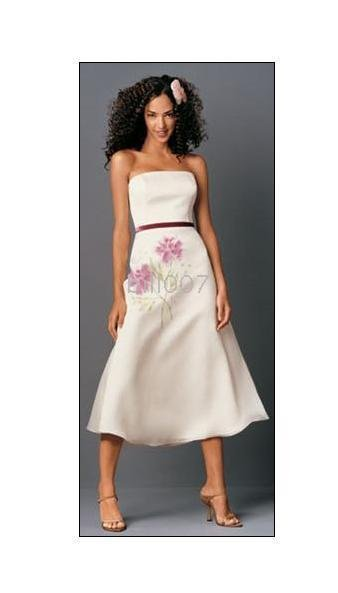 Length Bridesmaid Dresses stock on hand--- Soft Pink Tea(China (Mainland))