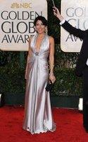 Sleeveless Elastic satin 2010 Golden Globe Dresses Lisa Edelstein Sheath/ Column Halter Floor-length
