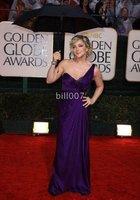 2010 Golden Globe Awards Jane Krakowski Sheath One Shoulder Sweep Elastic satin Celebrity Dresses