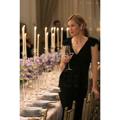 Evening Celebrity Dress Gossip Girl Lily Sheath Column V-neck Floor-length Chiffon(China (Mainland))