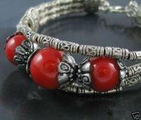 Tibet silver Red Coral Bracelet/Armschmuck