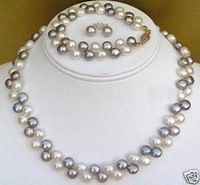 Beautiful Black White Pearl Necklace