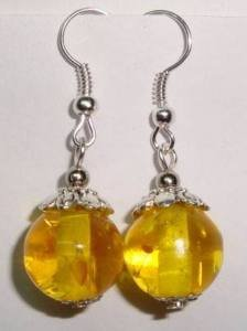 Charming beeswax liberation beads earrings(China (Mainland))