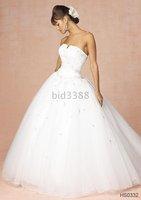 New Elegant Wedding Dress/Strapless/Size Free/All Color (2)