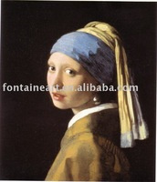 Handmade famous Johannes Vermeer Oil Painting Reproduction,Girl with a Pearl Earring