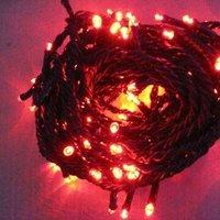 LED String Light;30 meter long;red color;total 300pcs leds;AC85-260V input;