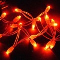 LED String Light;8 meter long;red color;total 80pcs leds;AC85-260V input;