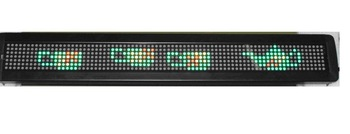 P7.62mm indoor used led screen,red and green color;7*80mm Pixel Resolution;size:100*660*34mm;P/N:M500W-7*80RG