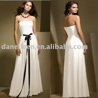 Strapless White Long Bridesmaid Dresses In Hot Selling With Low Price,DE-EL0156