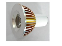 GU10 1*3W led spot light with 85 to 265V AC Input;120lm,large stock;please advise the color you need;P/N:PL-E27003