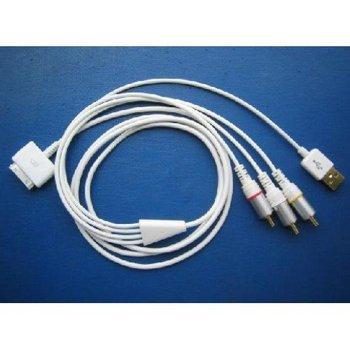 Free shipping! 25 pcs Brand New 3G AV + USB Cable for , nano, iphone 3G