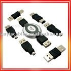 8pcs/lot Mini usb travel kit (7 in 1 USB Cable Camera PDA MP3 Computer Travel Kit)(China (Mainland))