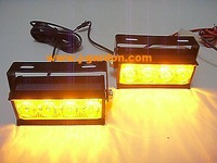 Emergency 2x 4 Led Car Truck Strobe Light Amber