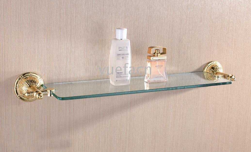 Bathroom Glass Shelf - Wholesale - Free Shipping (1204)(China (Mainland))