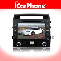 8inch auto DVD PLAYER GPS navigation for TOYOTA LAND CRUISER STEREO TV with GPS USB SD from iCarPhone company