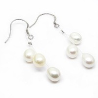 Free shipping ! Wholesale 2010 Pearl jewelry earrings ES4306