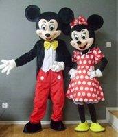 Mickey and Minnie Mascot.Costume