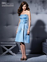 elegant cocktail dresses A-line Strapless Cocktail Length Women's Clothing Bridesmaid