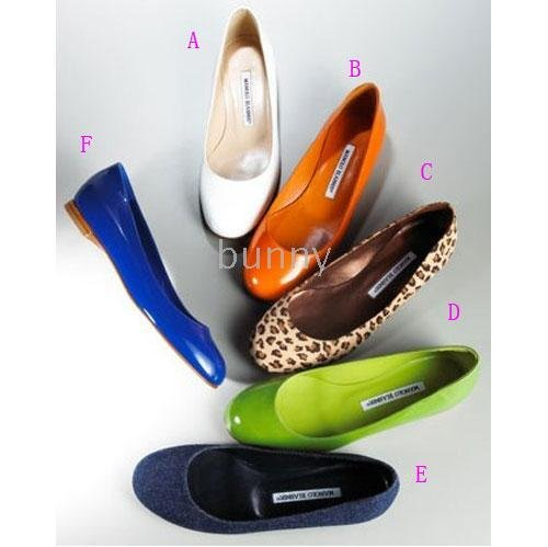 Patent Leather Ballet Flat Shoes Bright Side 2010 Summer Style.(China (Mainland))