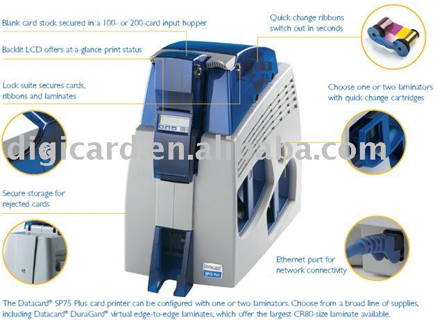 Datacard SP75 Plus Printer,180 images per hour singleisded.(China (Mainland))