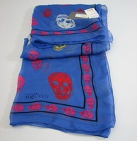 Brand design fashion  ladie scarf  skull silk scarf R12346B