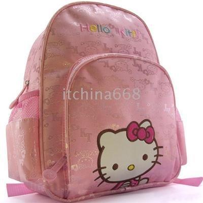 20pcs/lot, bonito olá kitty mochila mochila mochila saco para escola bolsa filhos mochila(China (Mainland))