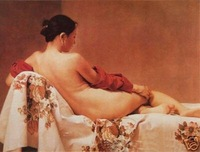 100% handicraft art oil painting:Naked woman 24x36 inch