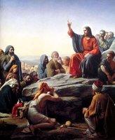 "Art Oil painting Jesus Christ preach & adherent 24""x36"""