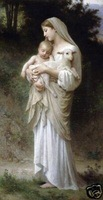 Free shipping100% handicraft oil paintings:Innocence