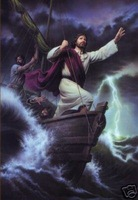 "Handicrafts Art Repro oil painting:""Jesus in the ship"""