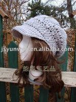 Hand crochet adult hat fashion classic