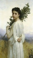 "Free shipping Handicrafts Repro oil painting:""Young girl In canvas"""