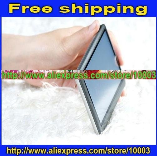 "Free shipping(10pcs/lot) 100% REAL 8GB 4.3"" Touch MP3 MP4 MP5 AV-out FM Video Player T8 +Free gift(China (Mainland))"