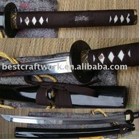 Free Shipping Traditional Handforged Carbon Steel Samurai Sword With Brown Ito&Sageo,Agree Drop Shipping