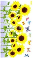 Home Wall Sticker Fashion Decoration SUNFLOWER (ZS-018) 60cmx33cm , 50pcs/lot
