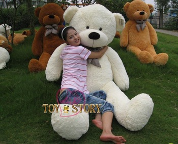 6.56 FEET TEDDY BEAR STUFFED WHITE GIANT JUMBO 78""
